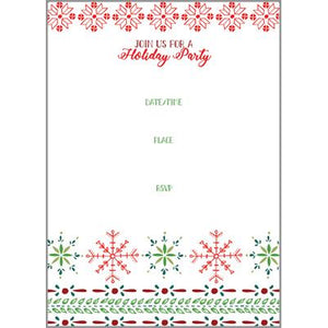 Fill-In Invitation - Snowflake Pattern, Gina B Designs