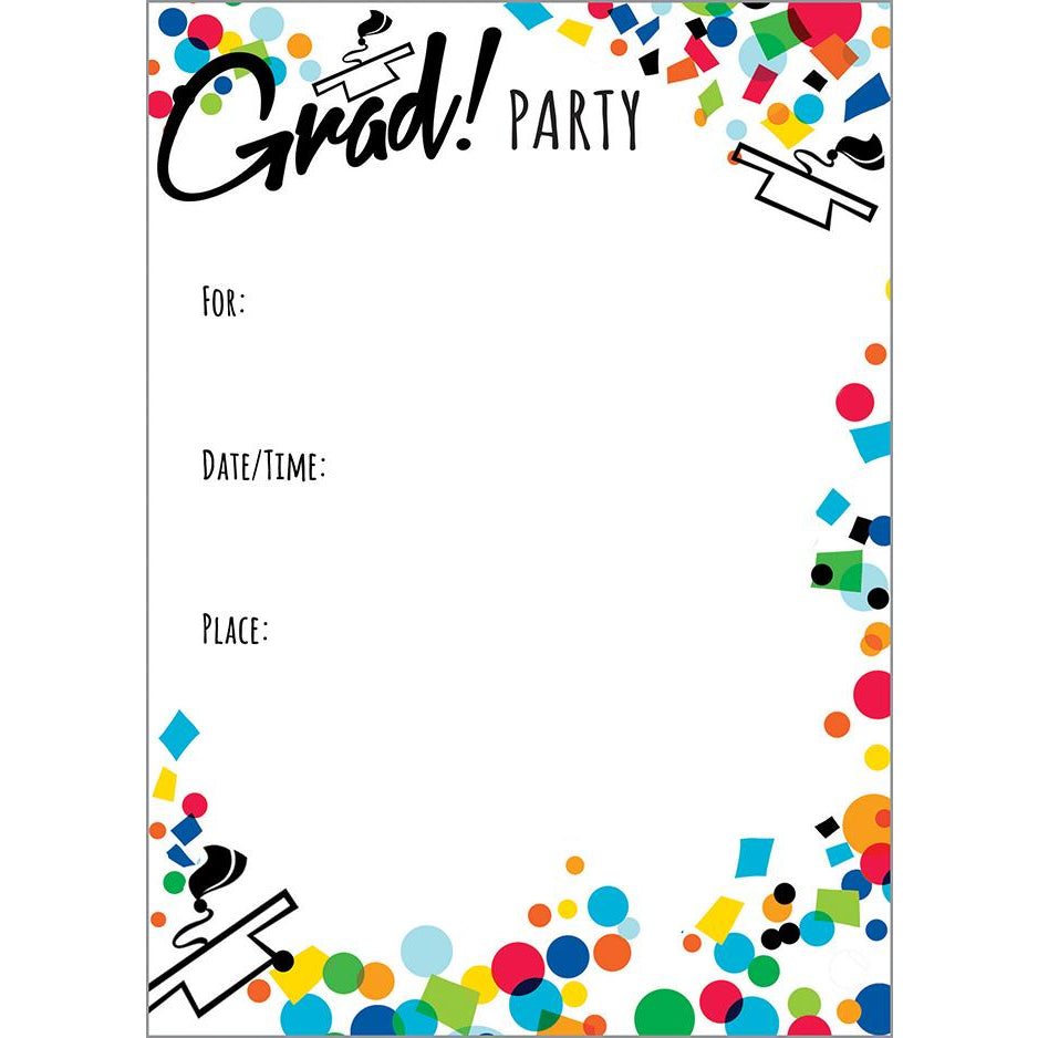 Fill-In Invitation - Colorful Congrats