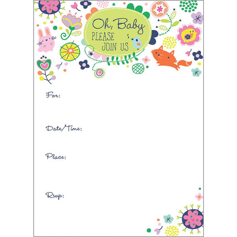Fill-In Invitation - Baby Cute Lil Things