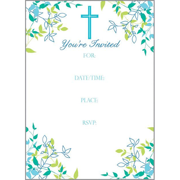 Fill-In Invitation - Blue Cross