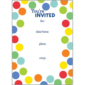 Fill-In Invitation - Colorful Dots