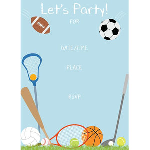 Fill-In Invitation - All Sports