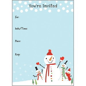 Holiday Fill-In Invitation - Christmas Snowmen