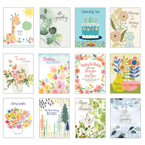 Card Assortment-All Occasion Greeting Cards {with scripture}