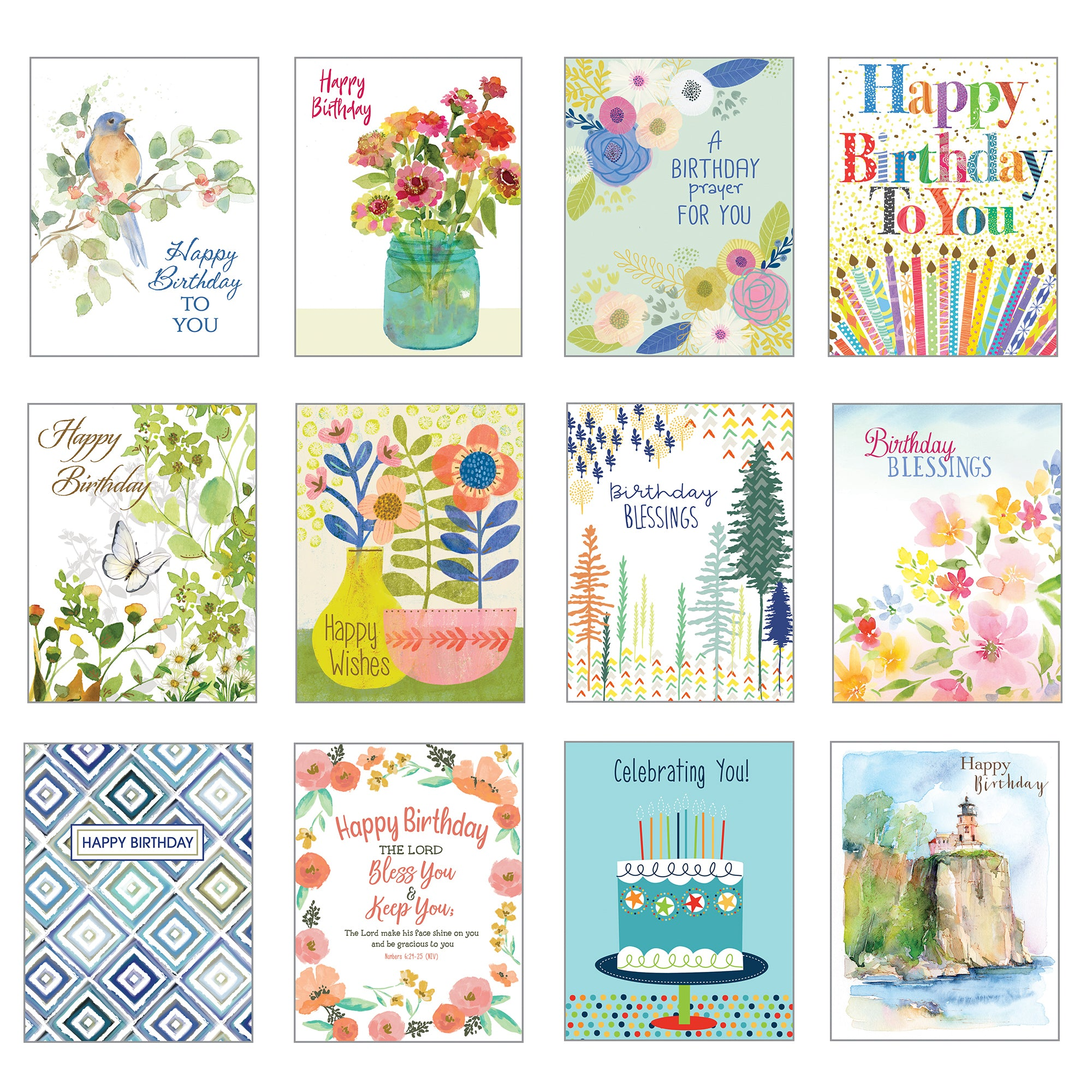 Card Assortment-Birthday Greeting Cards {with scripture}