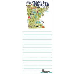 List Pad- Minnesota, Gina B Designs