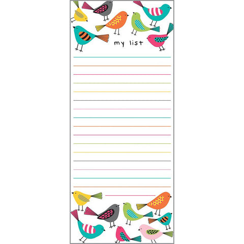 List Pad- Bright Birds, Gina B Designs