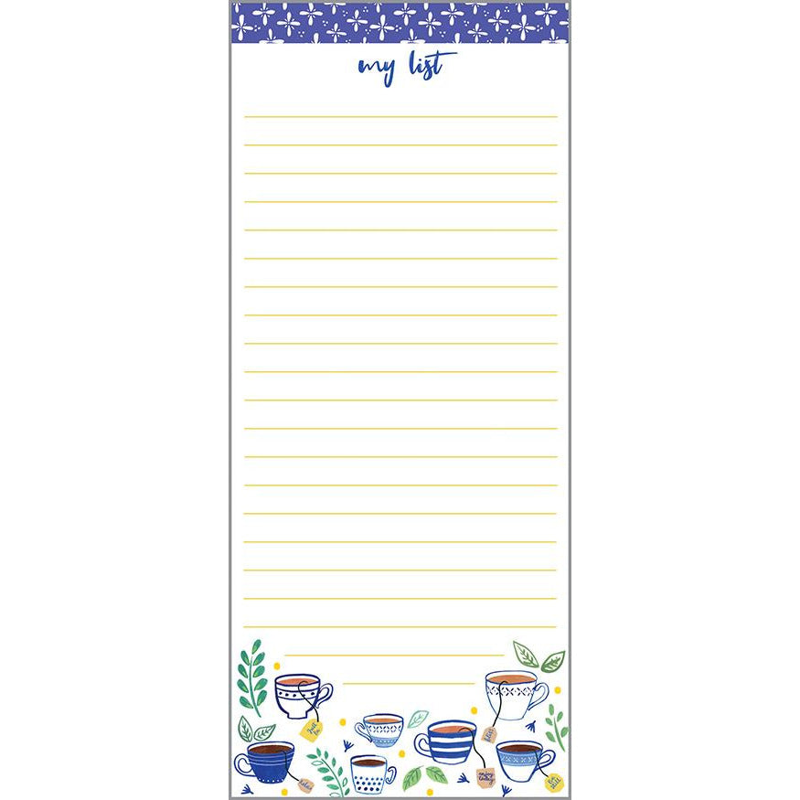 List Pad- Blue Cup, Gina B Designs