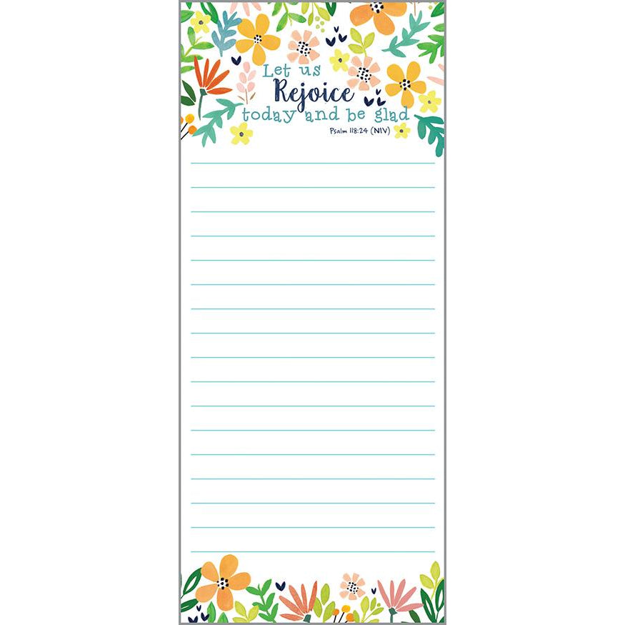 {with scripture} List Pad - Rejoice Flowers