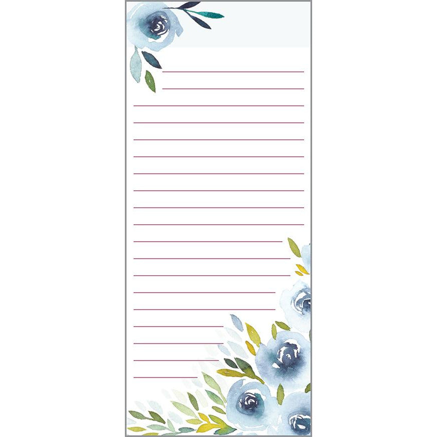List Pad- Blue Roses, Gina B Designs