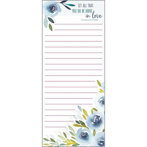 {with scripture} List Pad - Blue Floral, Gina B Designs
