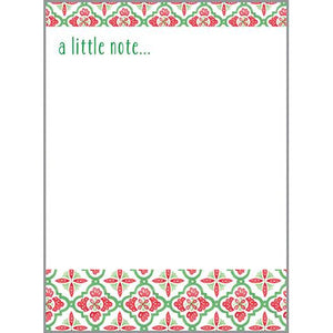 Holiday Memo Pad- Nordic Pattern, Gina B Designs