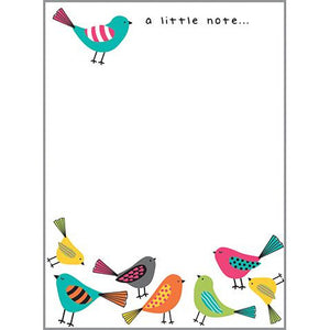 Memo Pad- Bright Birds, Gina B Designs