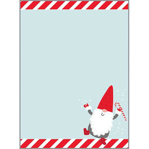 Holiday Memo Pad-  Gnome