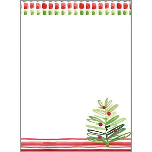 Holiday Memo Pad-  Merry Trees
