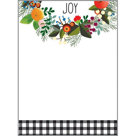 Holiday Memo Pad-  Season's Wreath