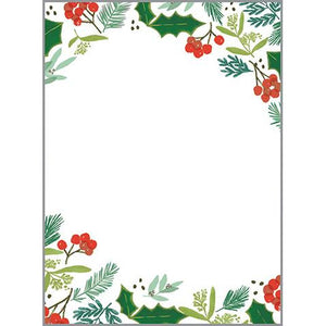 Holiday Memo Pad-  Holly & Ivy