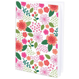 Mini Journal - Pink and Green Floral