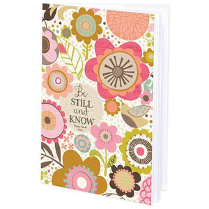 {with scripture} Mini Journal - Pink and Brown Flowers