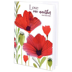 {with scripture} Mini Journal - Poppies