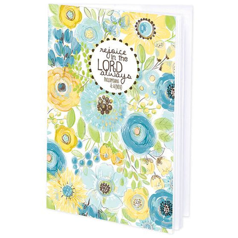 {with scripture} Mini Journal - Yellow Blue Flowers