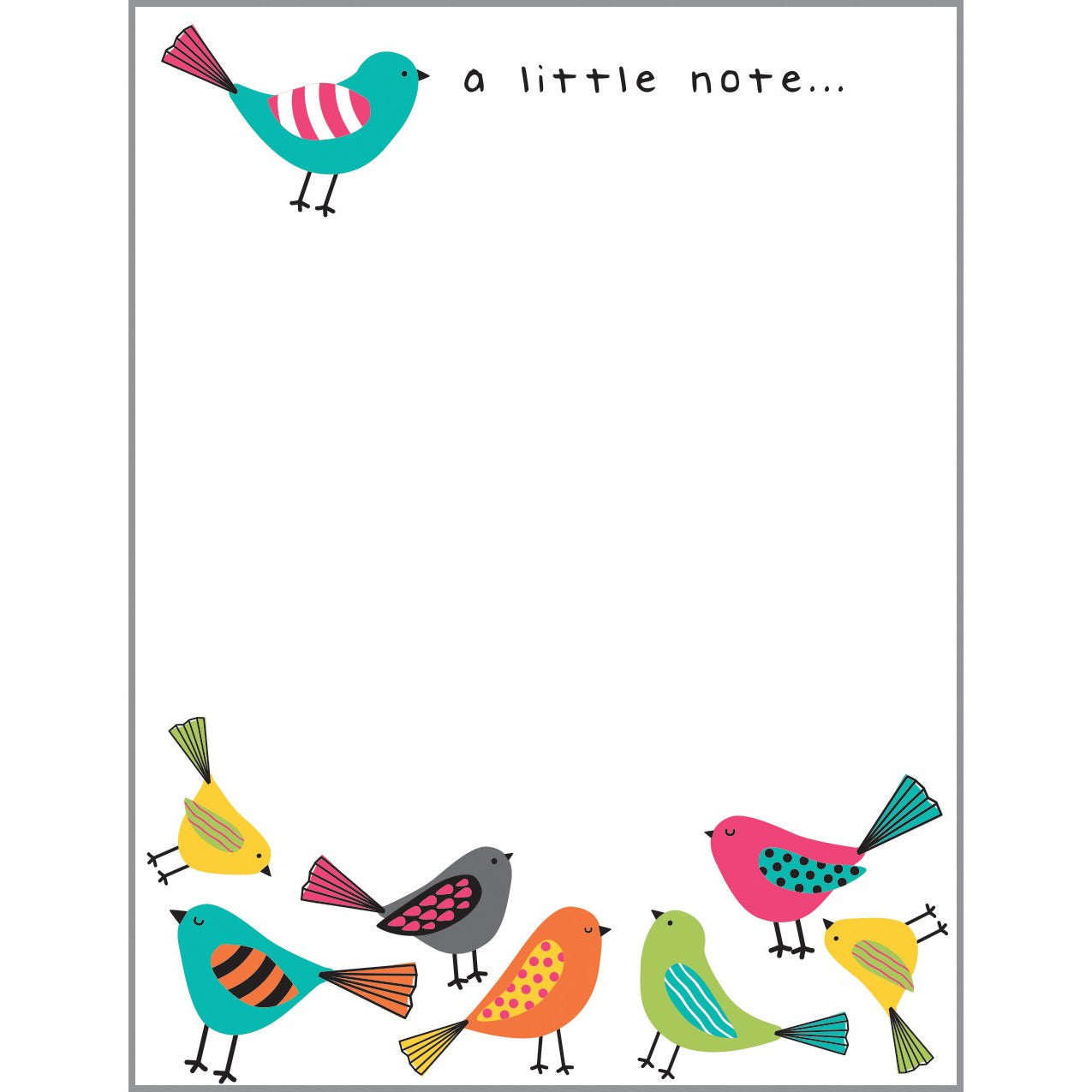 Desk Note Refill - Bright Birds, Gina B Designs