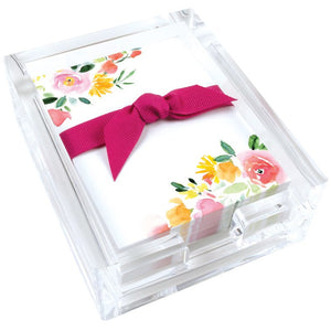 Desk Note Set - Red & Yellow Roses, Gina B Designs