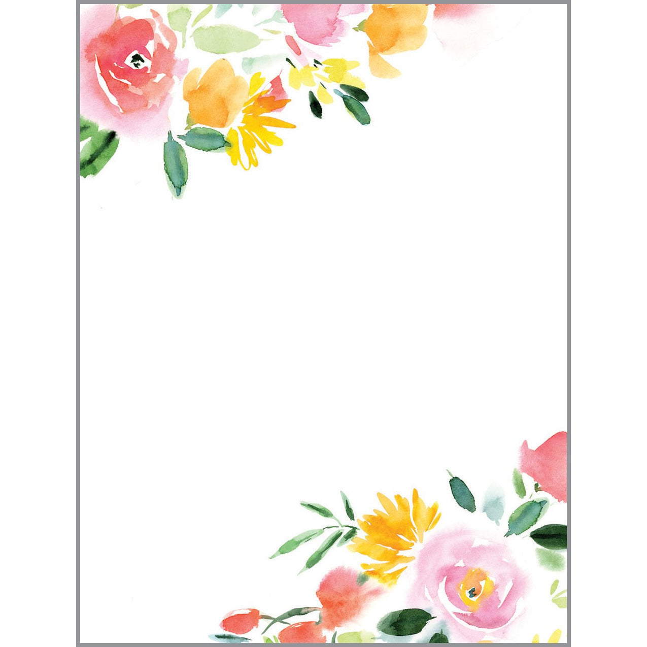 Desk Note Refill - Red Yellow Roses, Gina B Designs