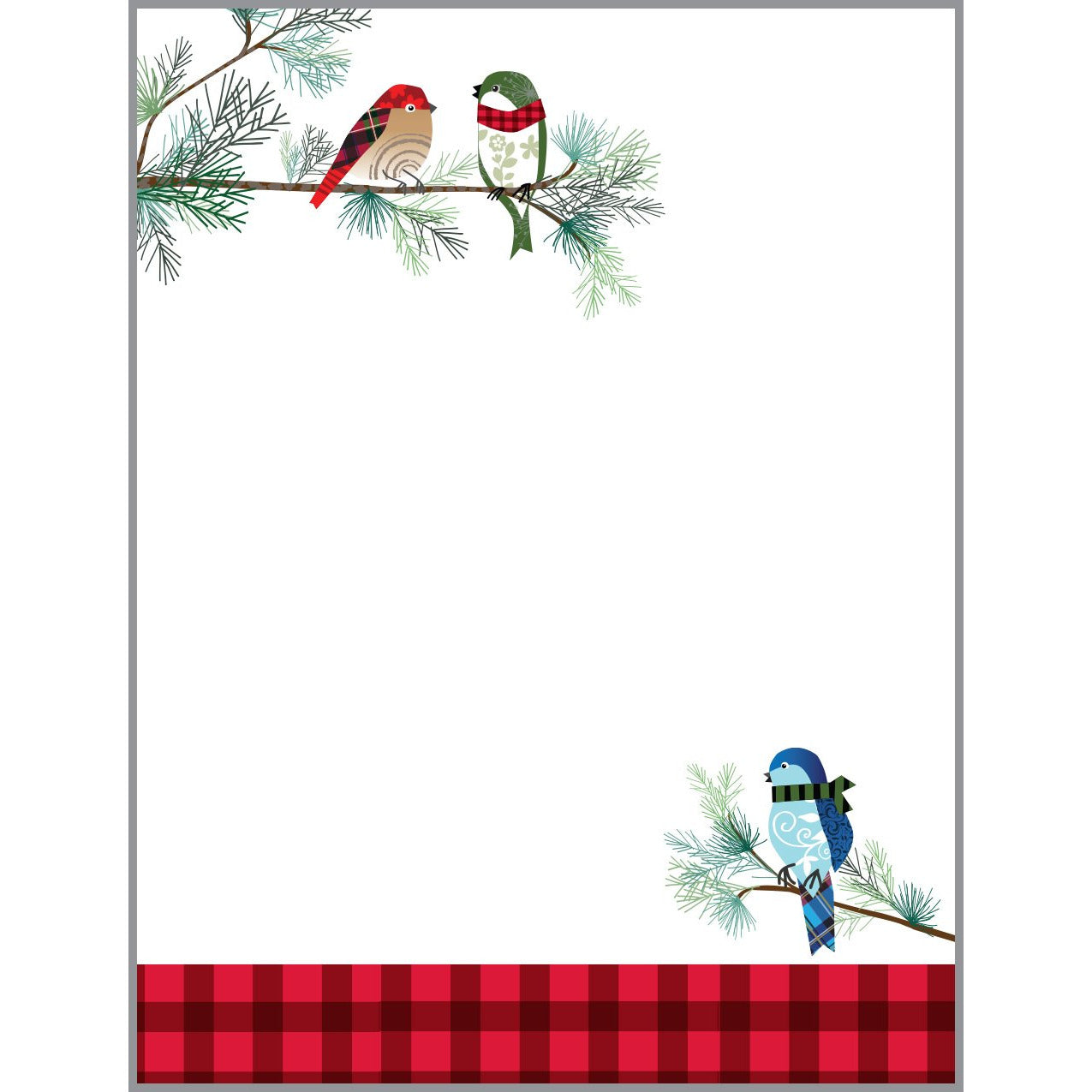 Desk Note Refill - Winter Birds