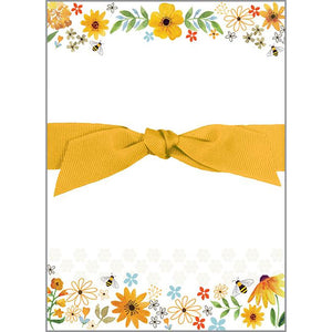 Chunky Bow Pad - Bees Flowers and Honeycombs