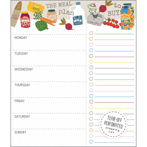 Meal Planner Pad - Groceries