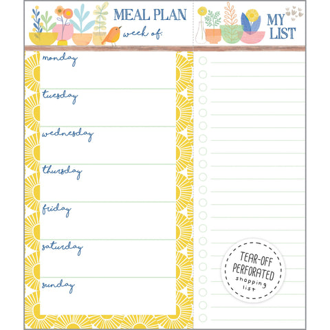 Meal Planner Pad - Pots and Bird