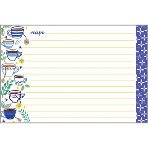 Recipe Cards - Blue Cups, Gina B Designs