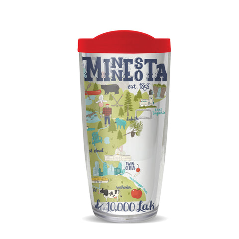 Minnesota Thermal Tumbler-Red Lid