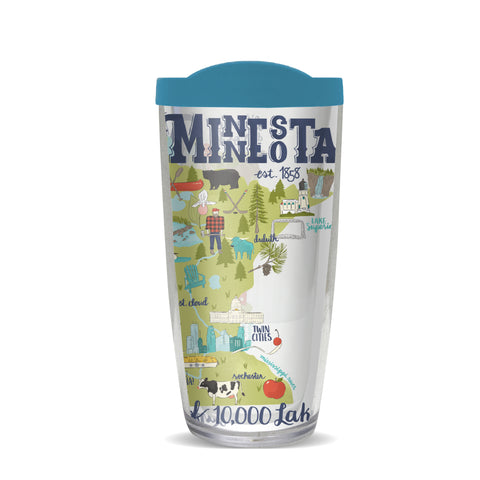 Minnesota Thermal Tumbler-Teal Lid