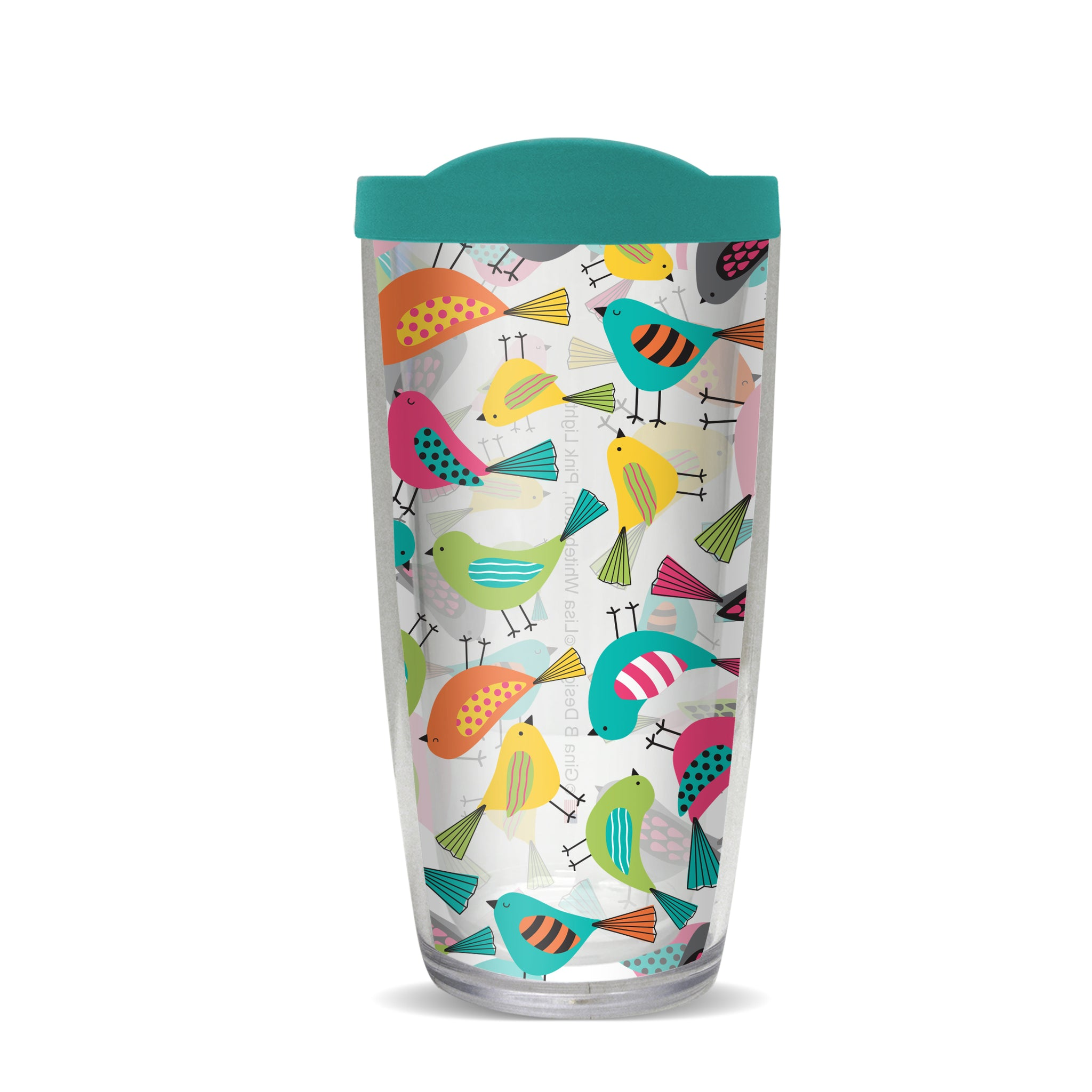 Bright Birds Thermal Tumbler, Gina B Designs