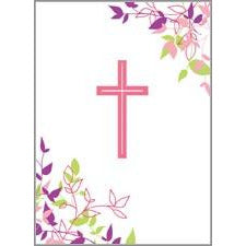 Gift Enclosures - Pink Cross and Leaves, Gina B Designs