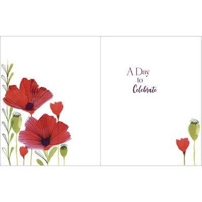 Anniversary card - Poppies