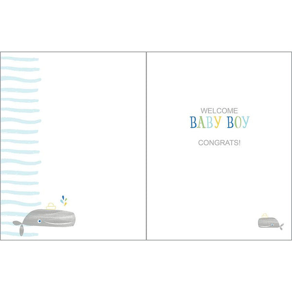 Baby card - Ahoy Little One, Gina B Designs