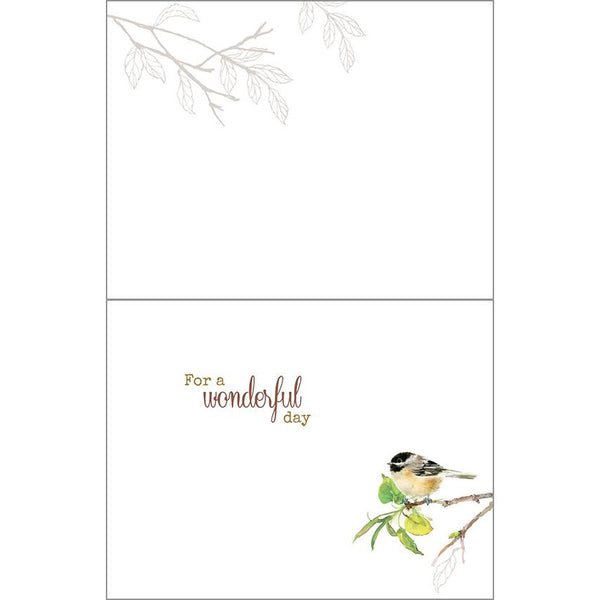 Birthday card - 3 Chickadees, Gina B Designs
