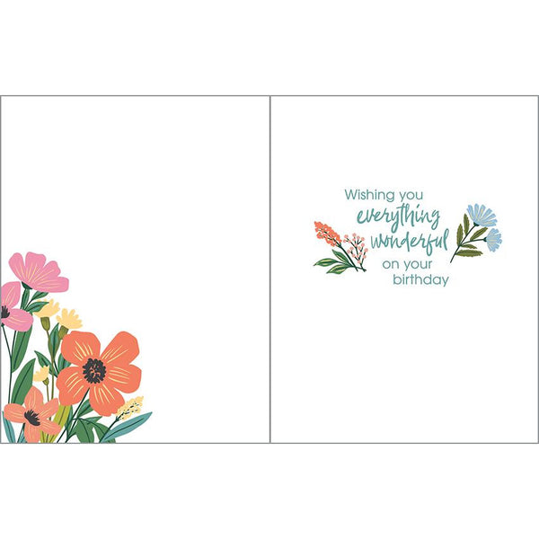 Birthday card - Floral Envelope, Gina B Designs