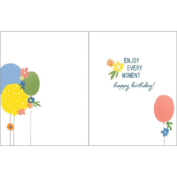 Birthday card - Balloons and Flowers, Gina B Designs