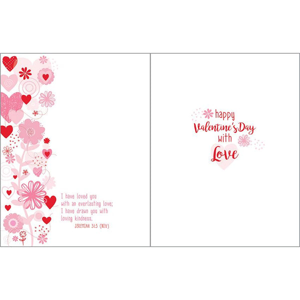 {with scripture} Valentine card - Flower Stems & Hearts