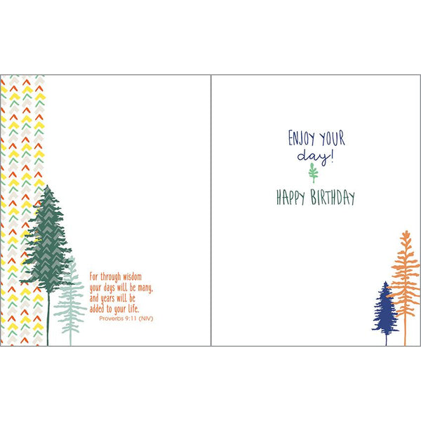 {with scripture} Birthday Card - Forest