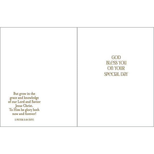 {with scripture} Religious card - Gold Cross, Gina B Designs