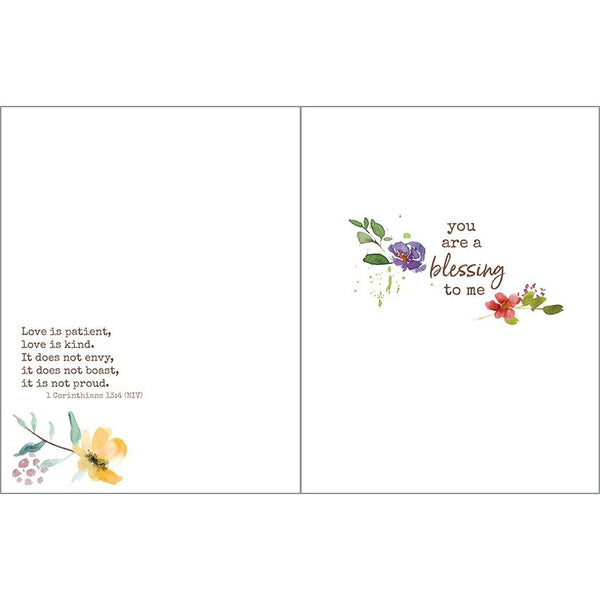 {with scripture} Love card - Floral Wreath, Gina B Designs