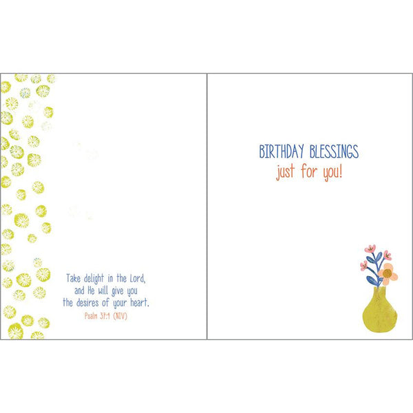 {with scripture} Birthday Card - Birthday Vase & Pot