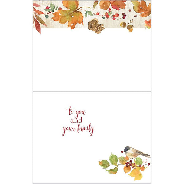 Thanksgiving card - Fall Color/Chickadee, Gina B Designs