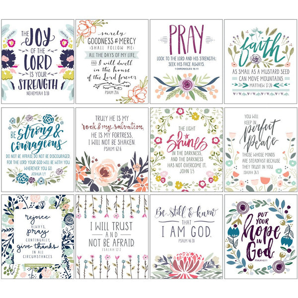 {with scripture} Little Inspirations Art Prints - Emily's Flowers, Gina B Designs