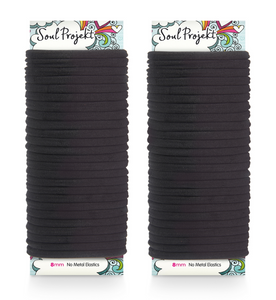 Hair Bobbles 50 Pack 8mm No Metal Hair Bands No Damage Elastic Hair Ties For Buns, Ponytails & Plaits